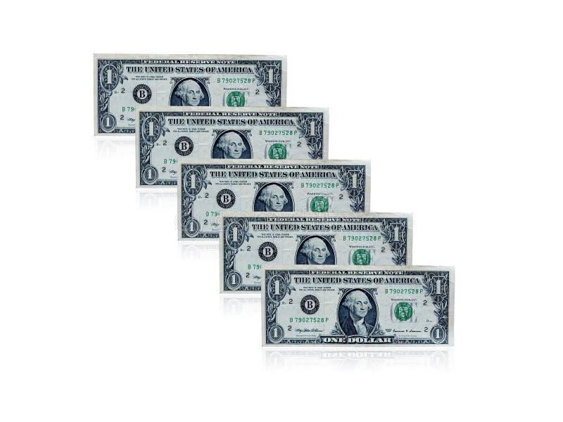 доллар одно кредиток стоковое фото