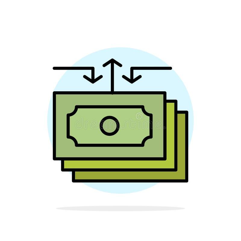 Доллар, подача, деньги, наличные деньги, значок цвета предпосылки круга конспекта отчета плоский бесплатная иллюстрация