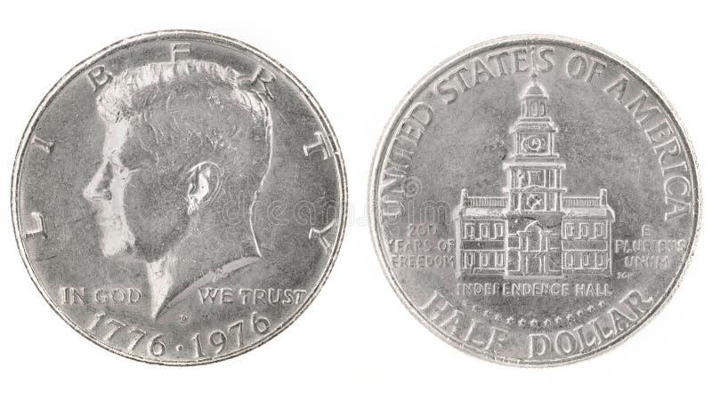 доллар половинный стоковая фотография rf