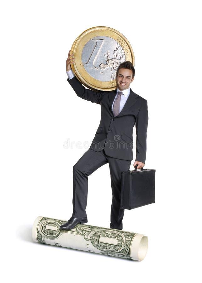 Доллар против евро. стоковые изображения