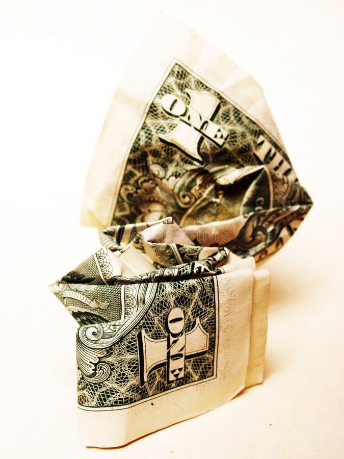 доллар скомканный счетом стоковые изображения