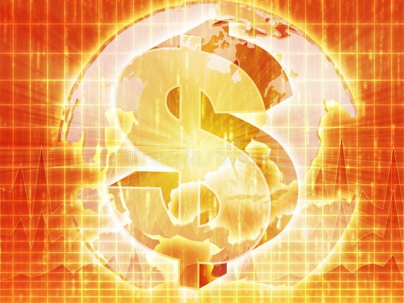 доллар составляет карту мы иллюстрация штока