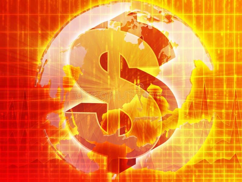 доллар составляет карту мы иллюстрация вектора