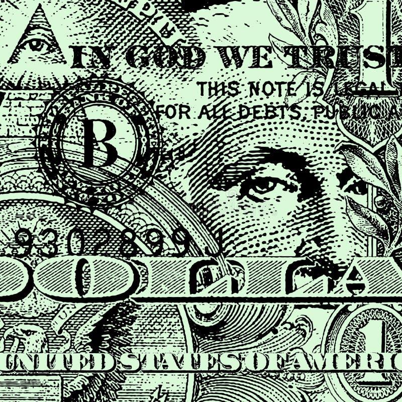 доллар счета иллюстрация вектора