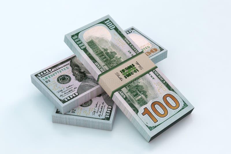 доллар 100 счетов иллюстрация штока