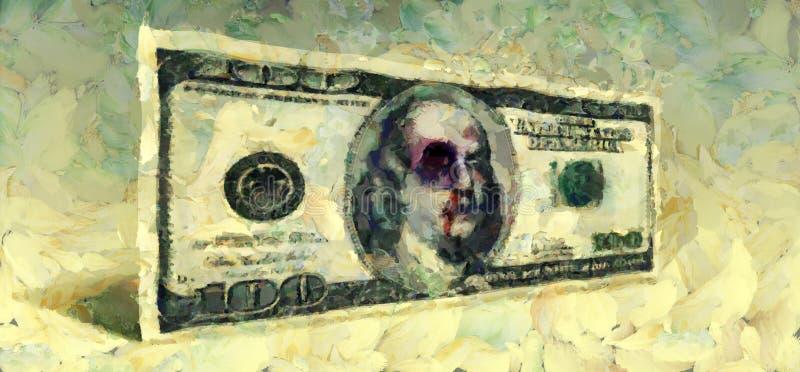 Доллар с синяком иллюстрация штока