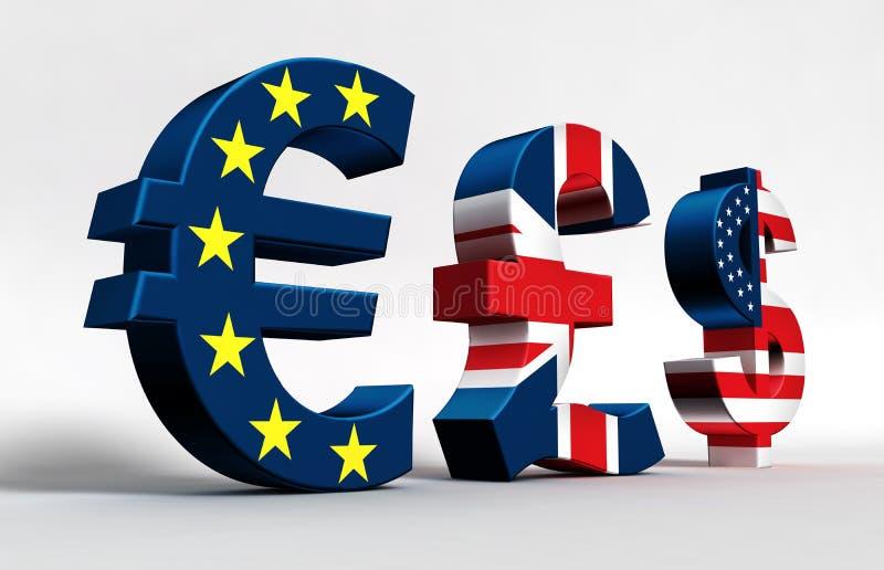 Доллар фунта евро бесплатная иллюстрация