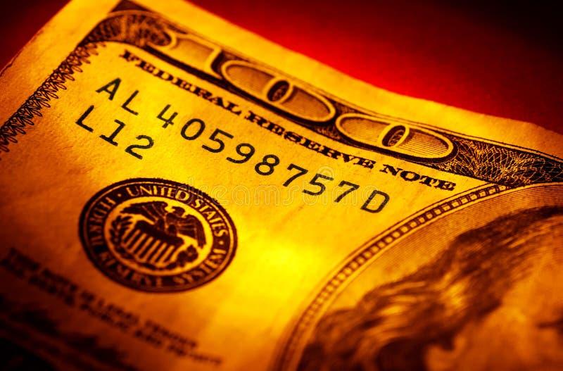 доллар 100 счета стоковое изображение rf