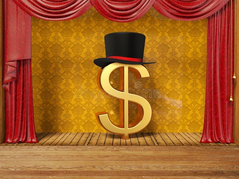 доллар иллюстрация штока