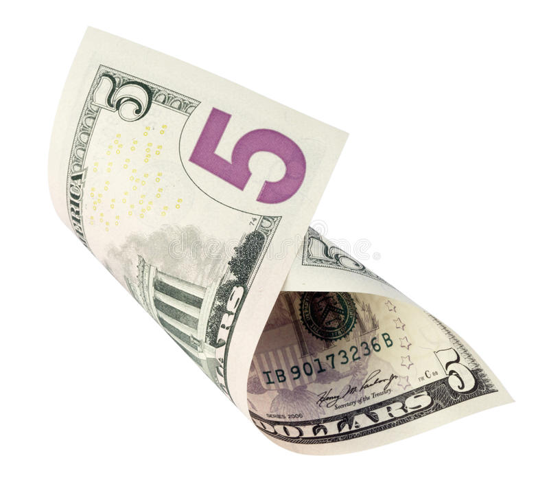доллар 5 кредитки стоковые изображения rf