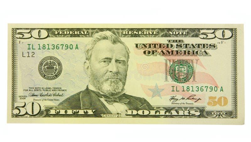 доллар 50 стоковое изображение