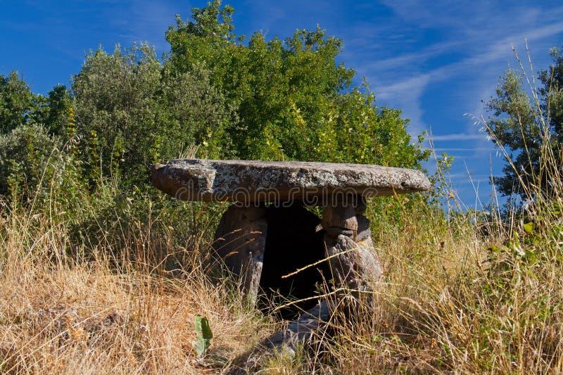 Дольмен в Франции стоковое фото rf