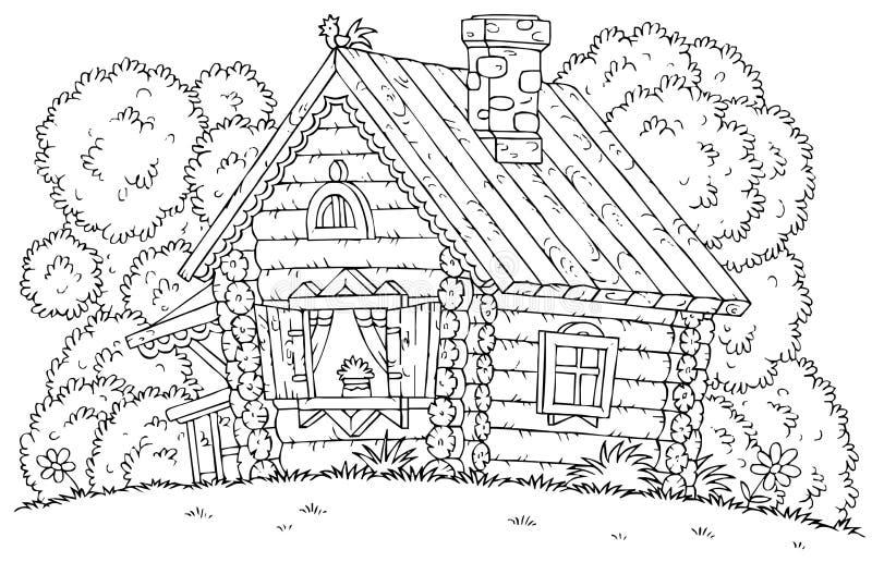 рисунок деревенский домик с узорами цель проявить