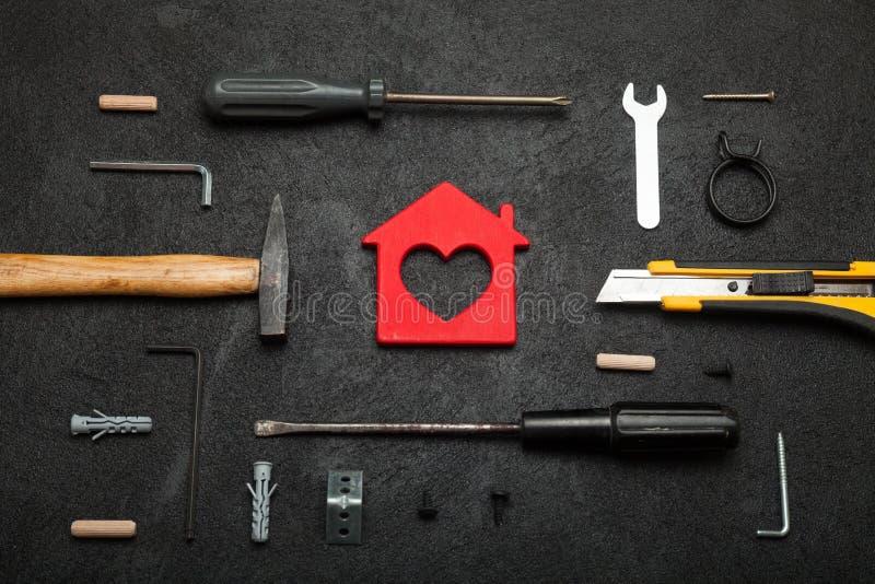Домашнее имущество инструмента, реальная конструкция силы, концепция ремонта стоковое фото rf