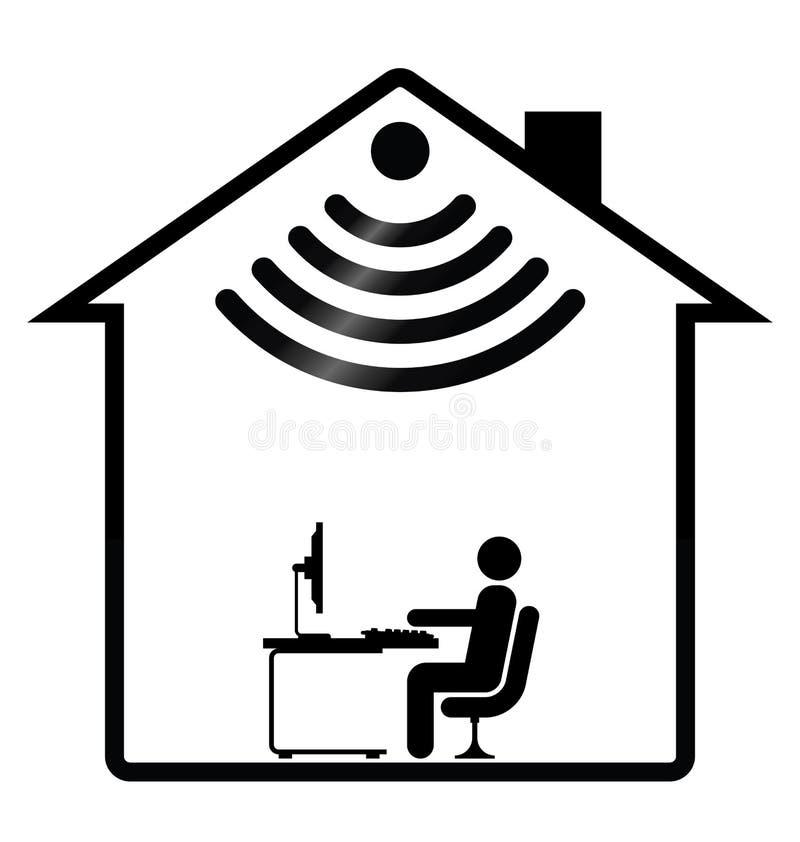 домашнее wifi иллюстрация штока