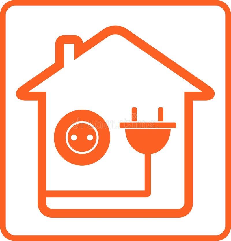 Домашние гнездо и штепсельная вилка иллюстрация вектора