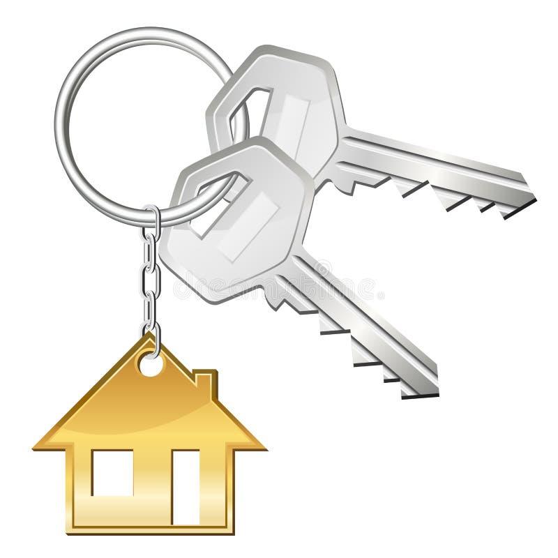домашние ключи иллюстрация вектора