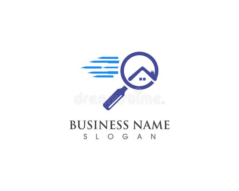 домашние логотип поиска и вектор иллюстрации бесплатная иллюстрация