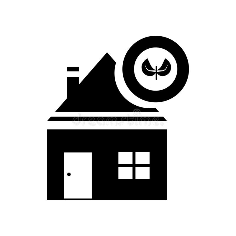 Домашний вектор значка изолированный на белой предпосылке, домашнем знаке, символах eco иллюстрация вектора