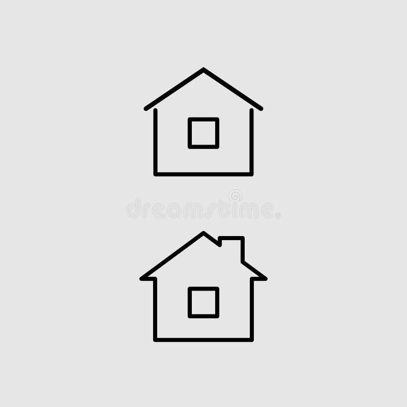 Домашний вектор значка иллюстрация вектора