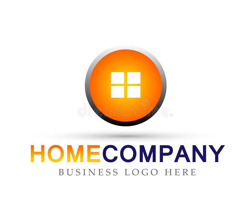 Домашний знак элемента значка логотипа кнопки на белой предпосылке бесплатная иллюстрация
