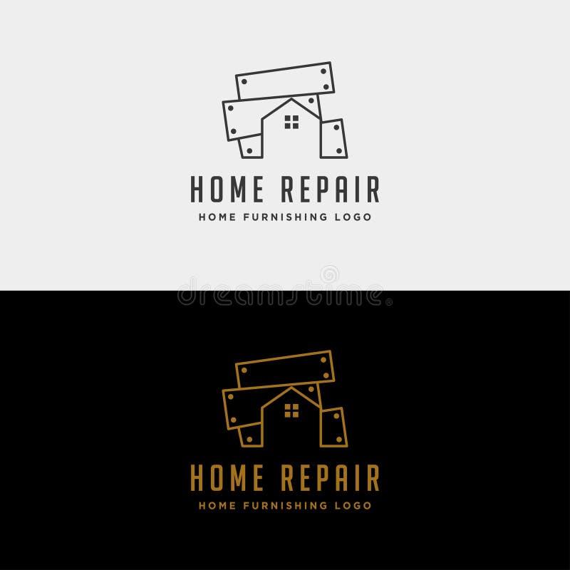 домашний значок вектора дизайна логотипа ремонта изолировал иллюстрация вектора