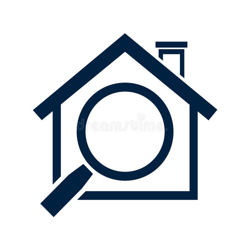Домашний значок - знак недвижимости иллюстрация вектора