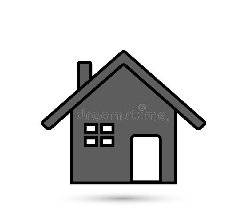 Домашний значок иллюстрация вектора