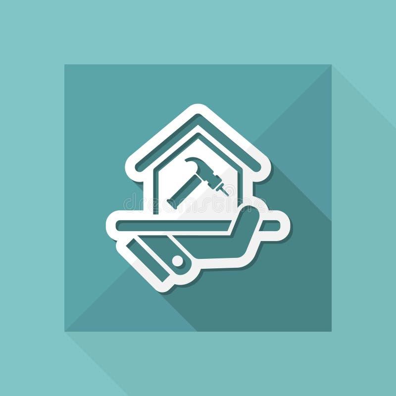 Домашний значок ремонта иллюстрация штока