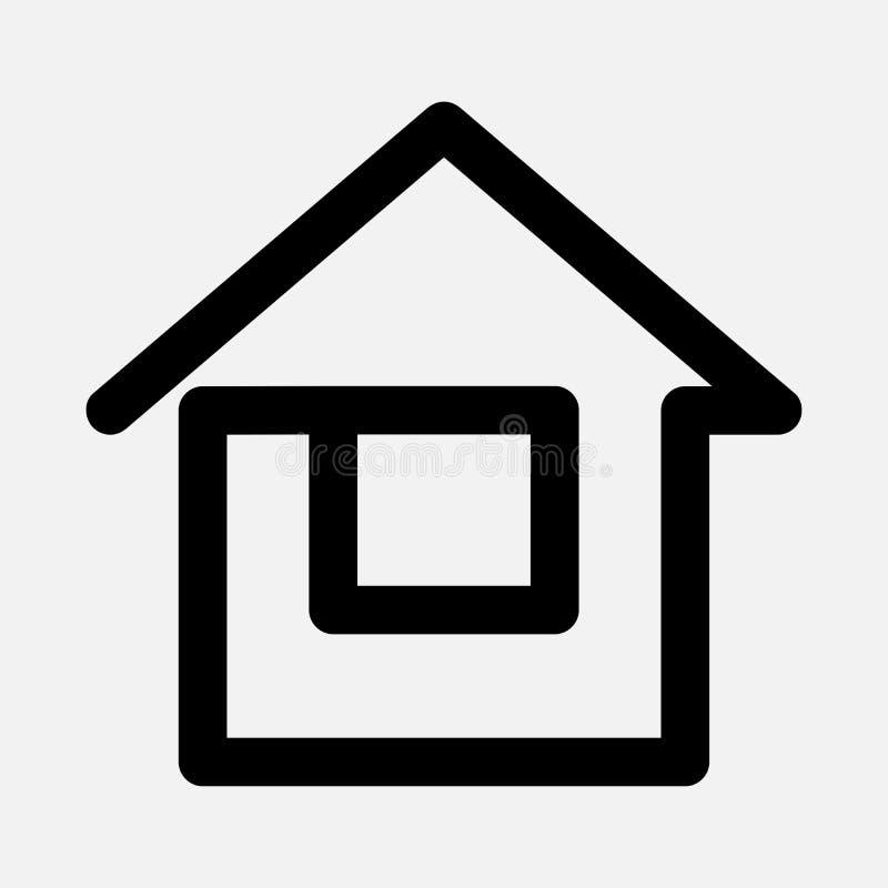 Домашний значок сети бесплатная иллюстрация