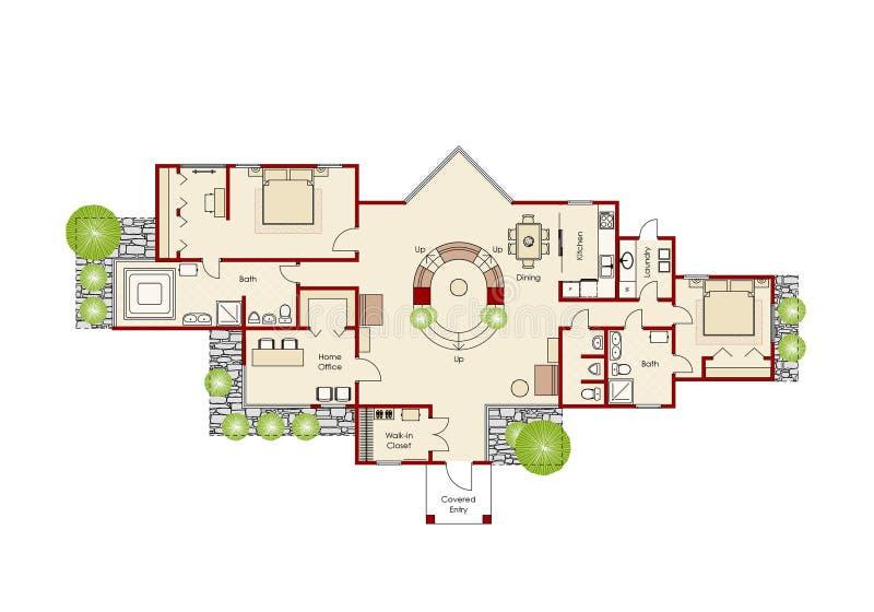 домашний идеально план иллюстрация штока