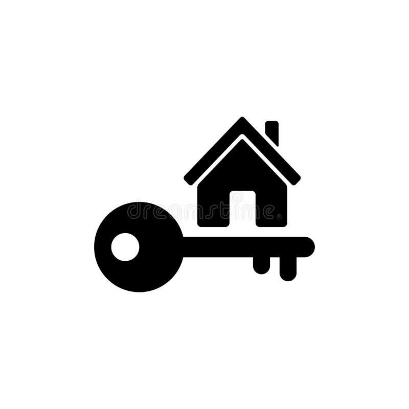 Домашний ключевой значок в плоском стиле Простой символ имущества иллюстрация штока