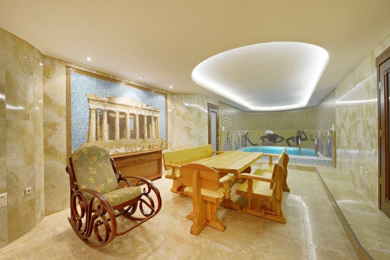 Домашний крытый бассейн стоковая фотография rf
