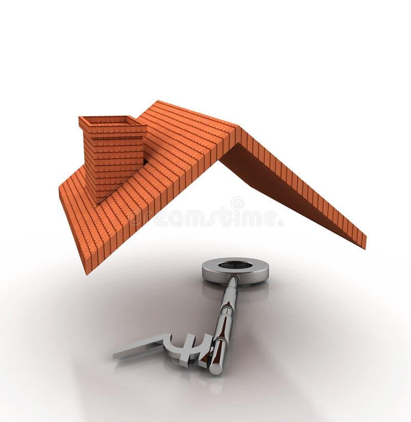 Домашний ключ иллюстрация вектора