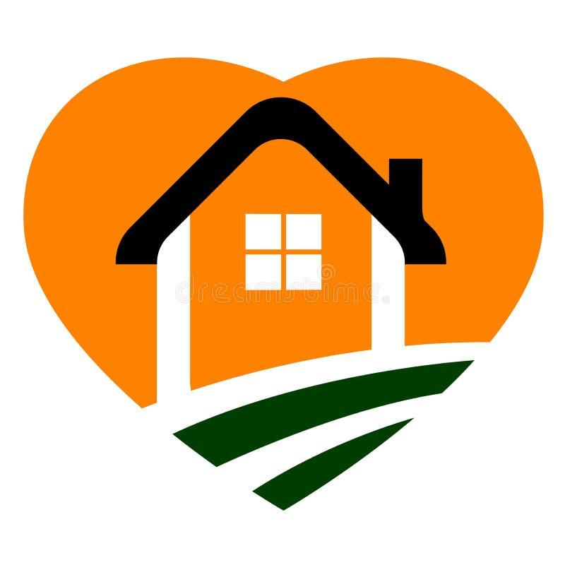 домашний логос иллюстрация вектора