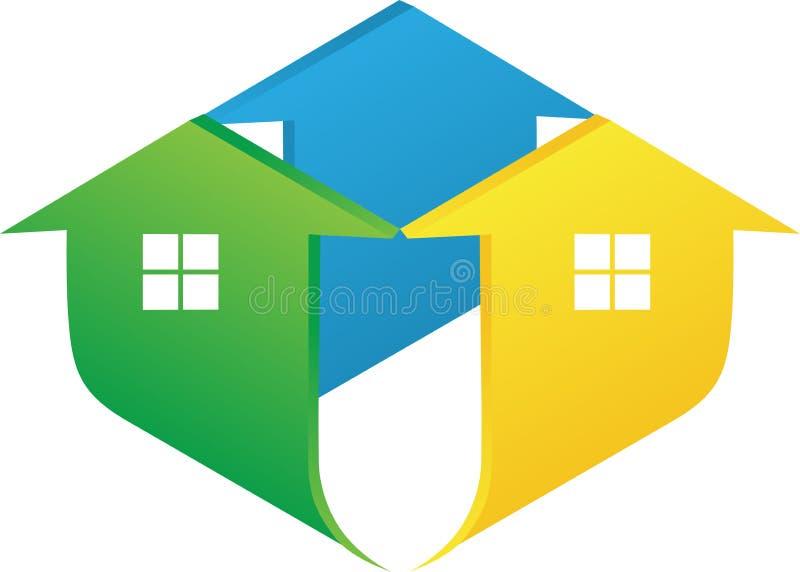 Домашний логос иллюстрация штока