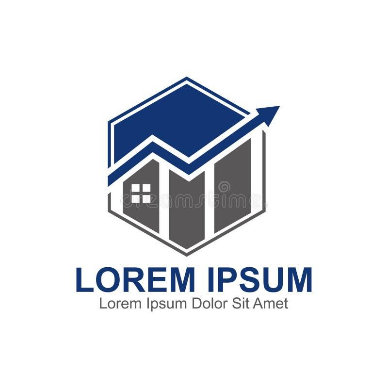 Домашний логотип аналитика бесплатная иллюстрация
