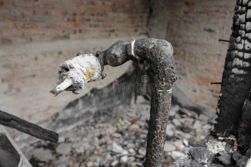 Домашний огонь абстрактная деталь отображает пожарище от дома стоковые изображения