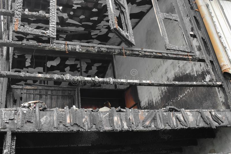 Домашний огонь абстрактная деталь отображает пожарище от дома стоковая фотография rf