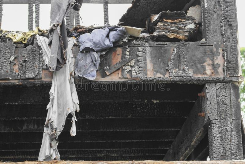 Домашний огонь абстрактная деталь отображает пожарище от дома стоковое фото rf