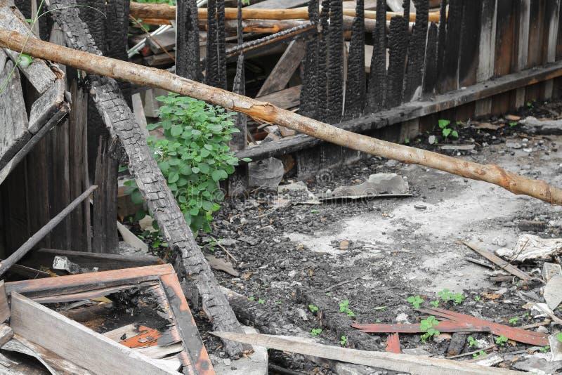 Домашний огонь абстрактная деталь отображает пожарище от дома стоковое изображение