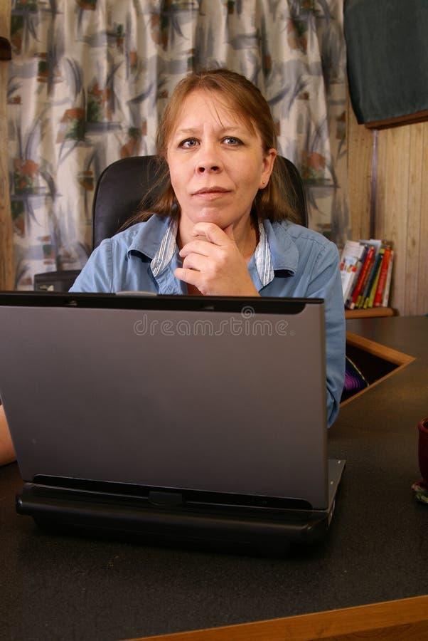 домашний офис стоковая фотография rf