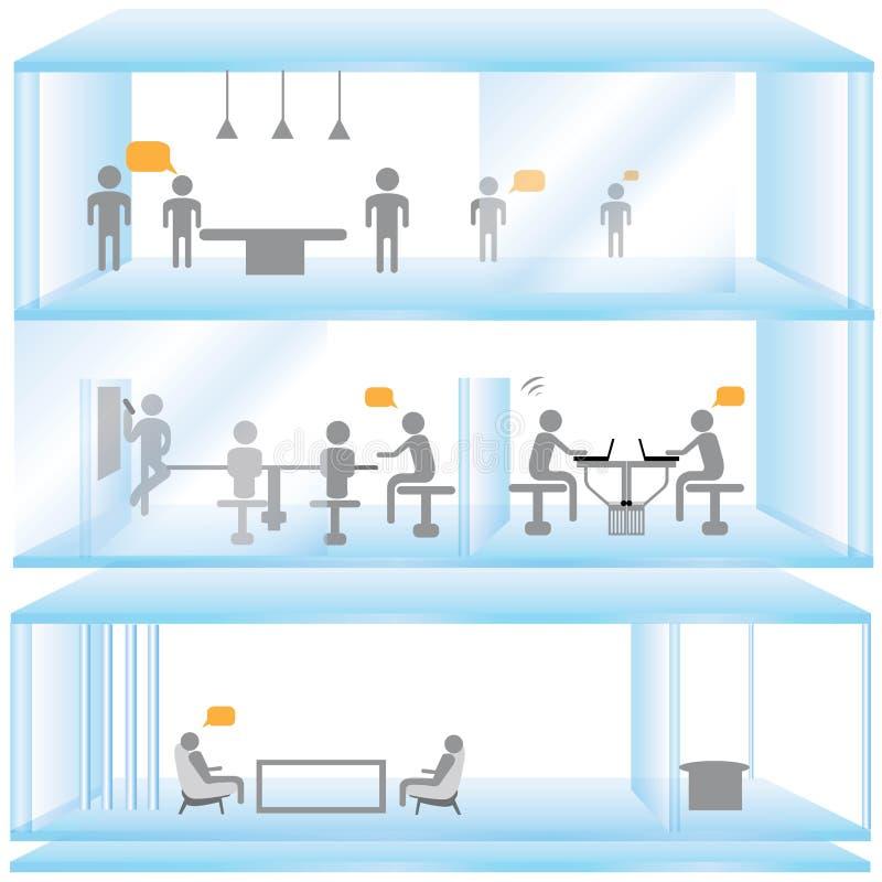 Домашний офис иллюстрация вектора