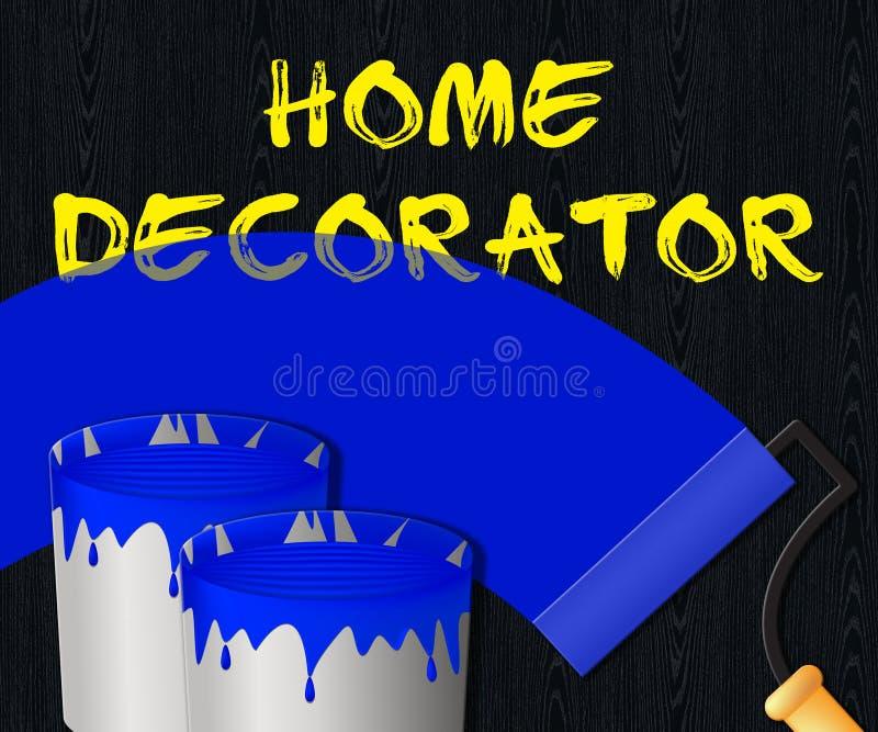 Домашний оформитель показывает иллюстрацию картины дома 3d иллюстрация штока