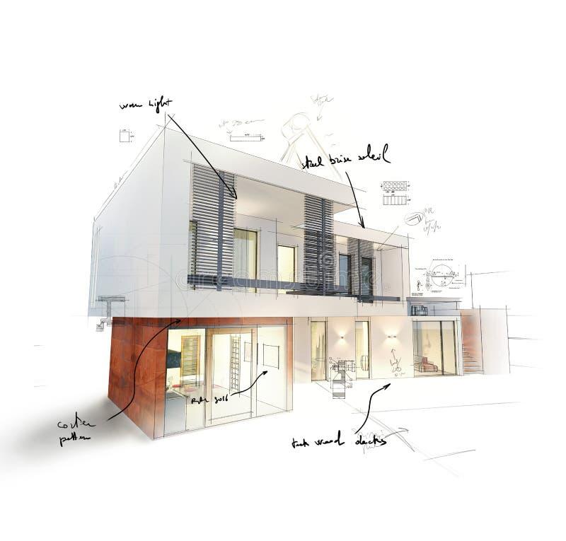 Домашний проект иллюстрация вектора