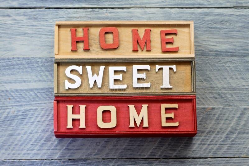 Домашний сладостный домашний знак стоковые изображения rf