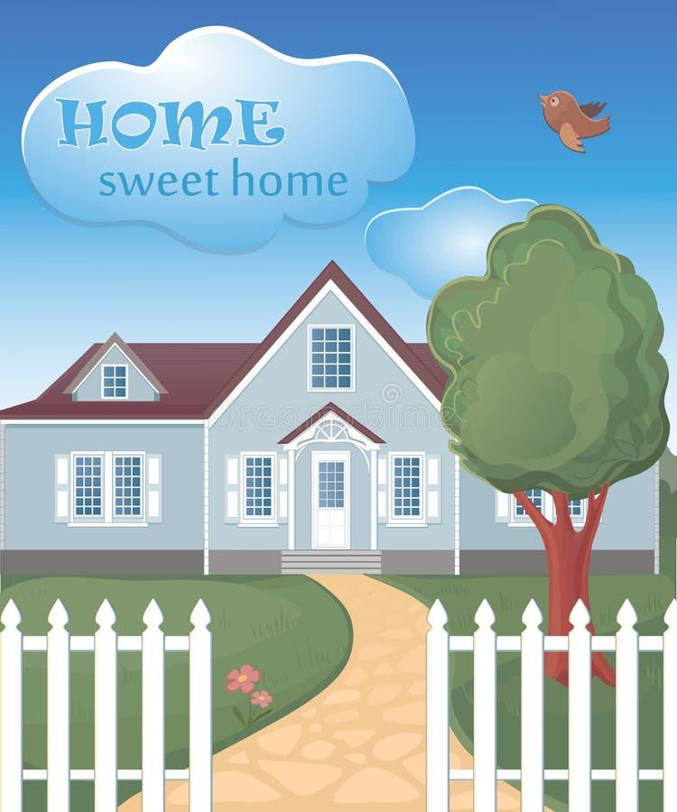 Домашний сладостный домашний плакат иллюстрация вектора