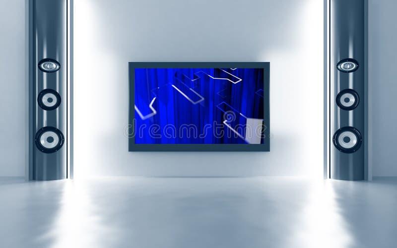 домашний театр tv плазмы бесплатная иллюстрация