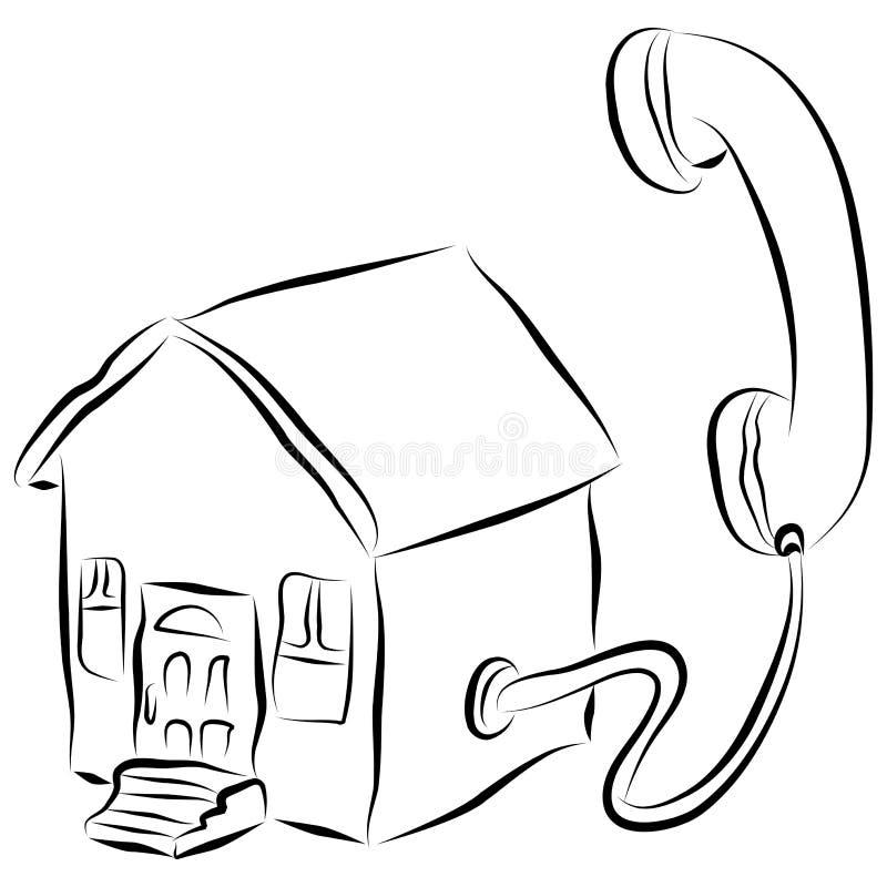 домашний телефон иконы бесплатная иллюстрация