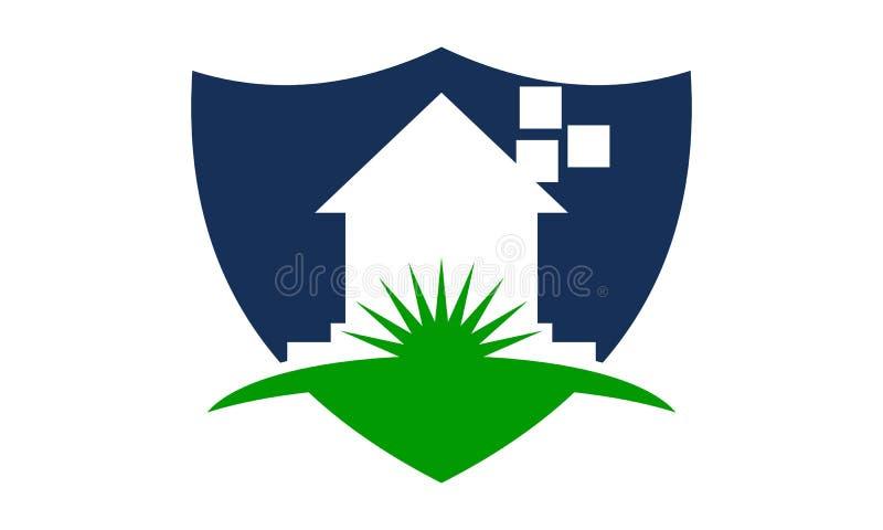 Домашний шаблон дизайна логотипа экрана иллюстрация вектора